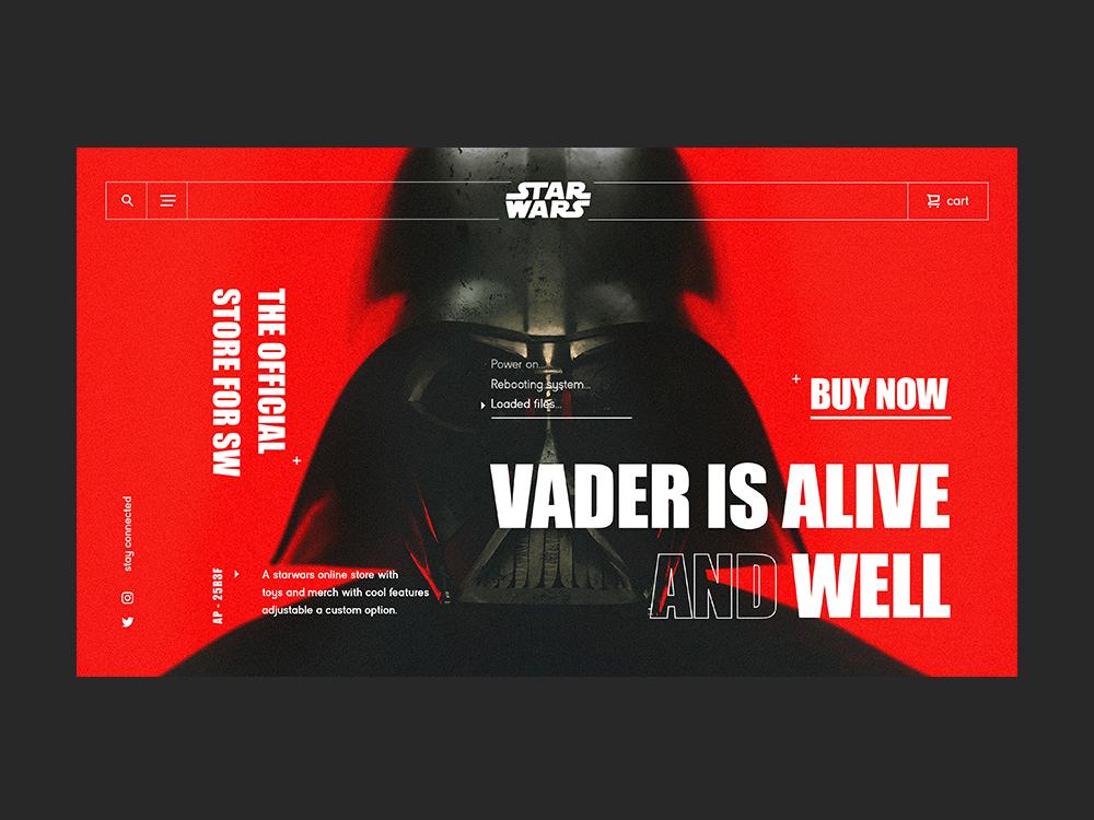Star Wars Online Store darth vader starwars wars star website typography branding animation web design app web app design ux ui