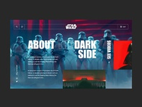 Star Wars About Page interface animation typography design web branding app web app website ui ux