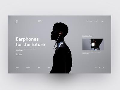 Earphones Landing Page
