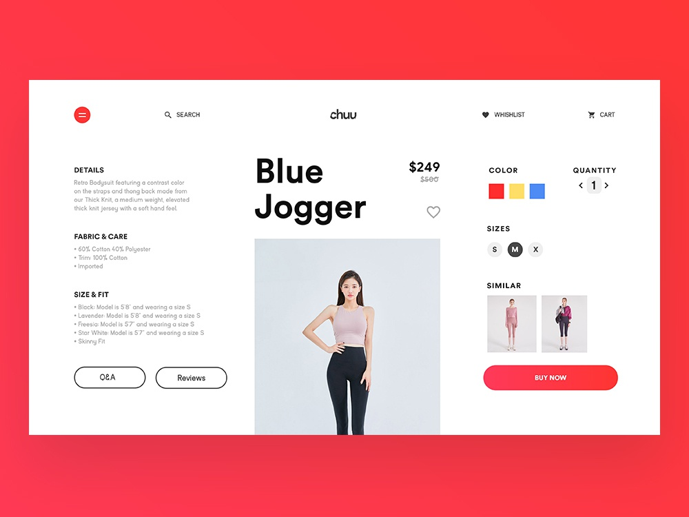 Buy Page Interface korea chuu clothing apparel interface app web design ui branding designs cart page buy website ux design