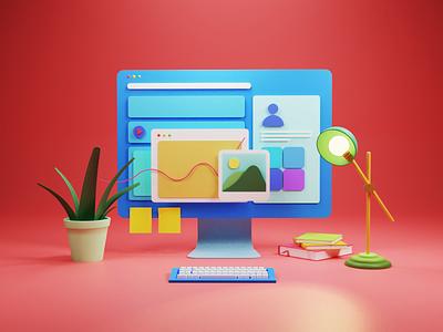 3D Illustration and Animation | Popshot by Lollypop design 3d art 3d animation branding visual design animation illustration