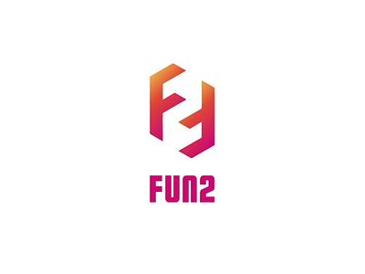 Fun2 logo animation uxui design illustration art animation design logos logotype logo design visual design logo illustration