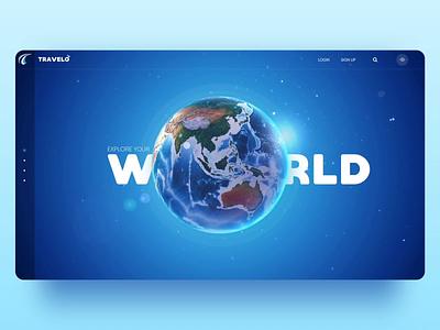 UI concept for Travel Planner Website | Popshot by Lollypop graphic design webdesign uxui design website design website design branding animation visual design ui design ui illustration