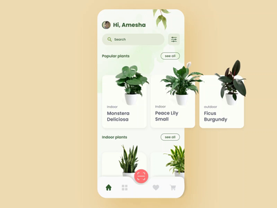 A splendid concept of E garden | Popshot by Lollypop plants ui design visual design illustration