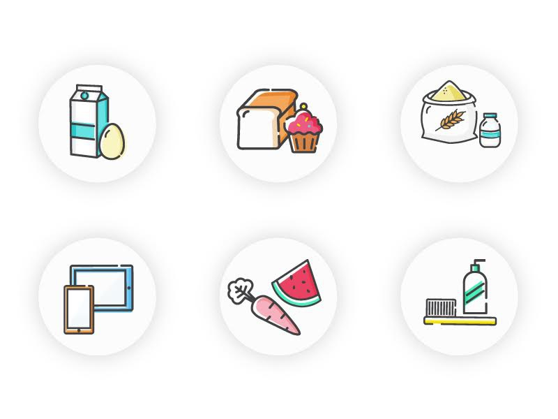 Icon Set - Food design ui ux food industry icons