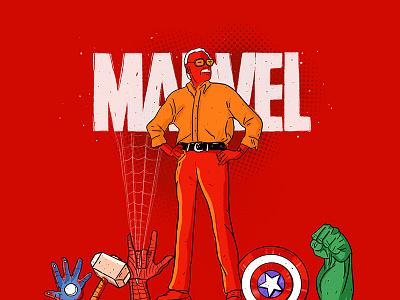 A Tribute To Stan Lee visual art marvel comics stan lee digital art