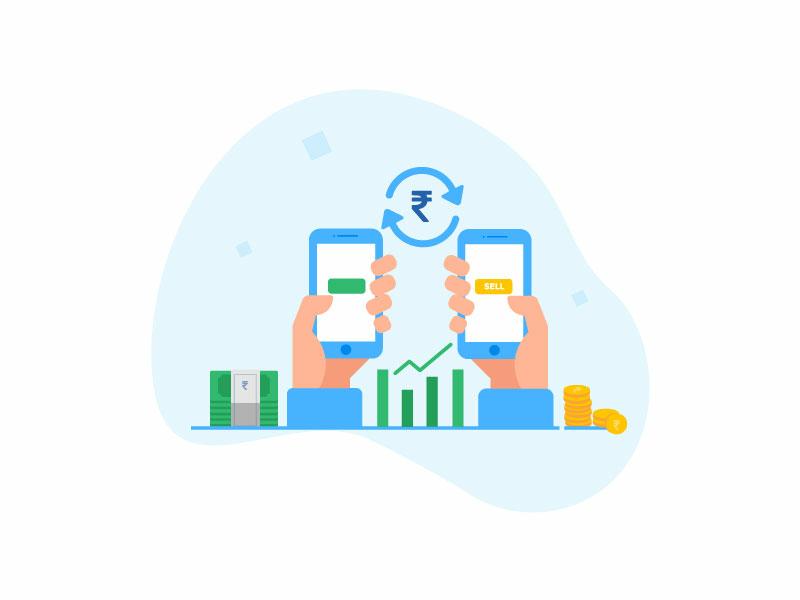 Illustration 1- Mutual Funds Platform visual design illustration