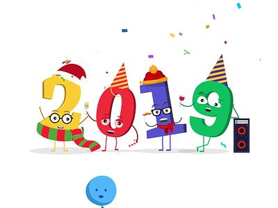 New Year 2019 new year 2019 animation illustration