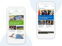 News Portal Mobile Screens