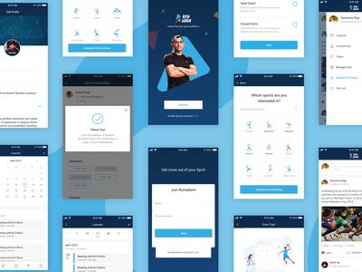 Mobile Screens- Sport-tech Platform