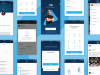 Mobile Screens- Sport-tech Platform