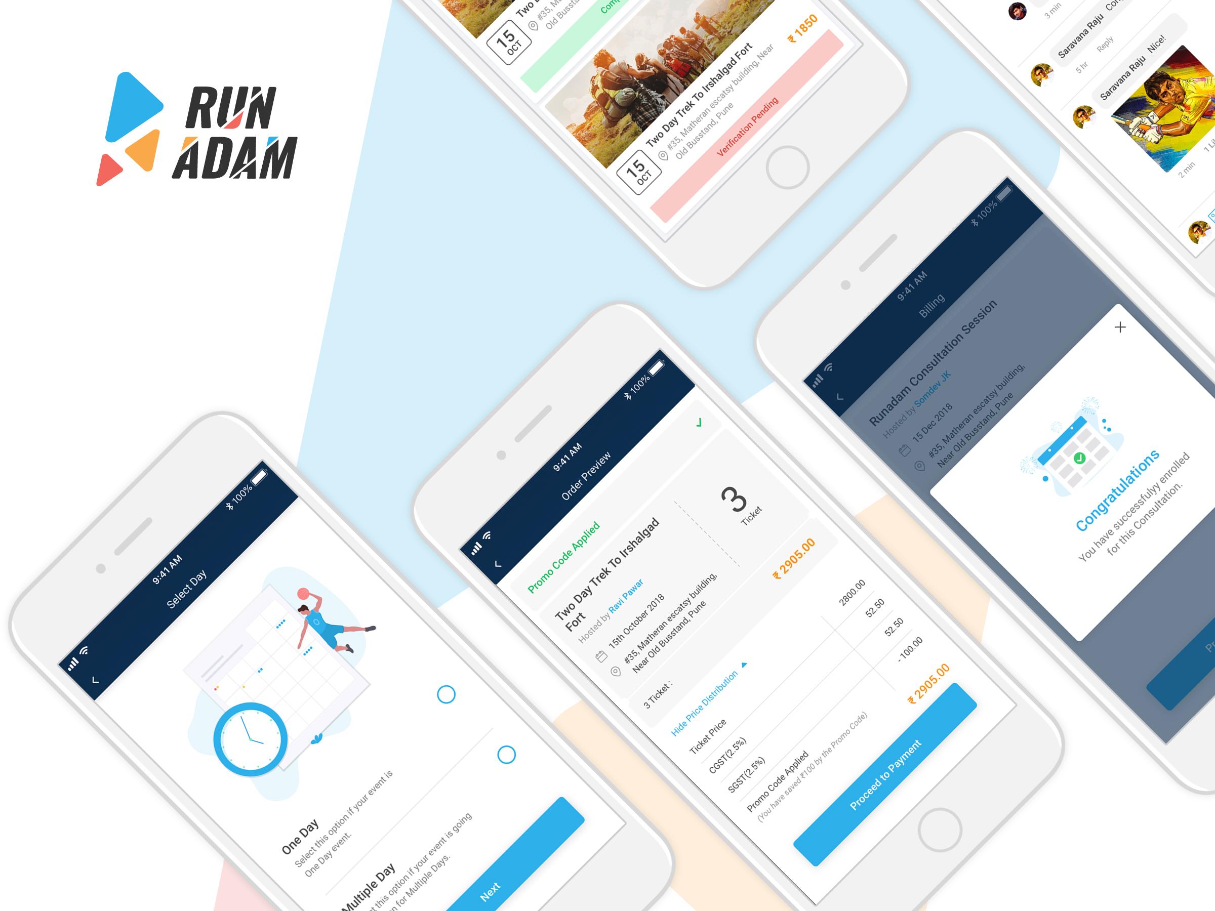 Dribble run adam mobile design