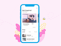 Interface animation for a content heavy site
