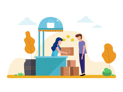 Customer Experience - Illustration uxui design animation illustration