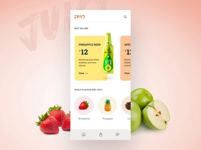 Fruit Beer | e-Commerce Catalog Management popshot uxui design ui design animation illustration