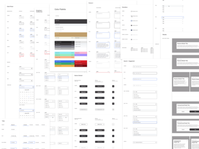 Spur Design System typography branding ui app design radio checkbox tabs dropdown modal design modal search bar search button design date picker color palette accordion form design system