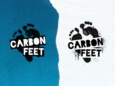 Carbon feet logo logo
