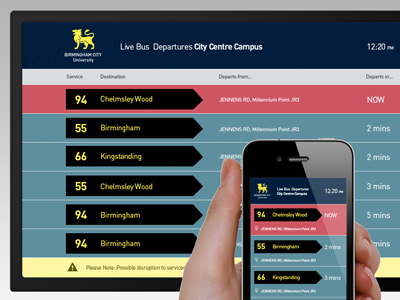 Live buses data responsive web app bus departures