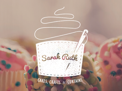 Sarah Ruth Logo logo cupcake cake crafts needle