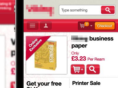 Responsive E-commerce for Office Stationary Company responsive design e-commerce shop store cart