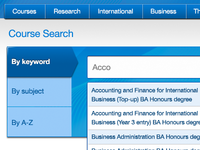 Course search with auto-suggest