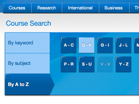 Course search by A to Z
