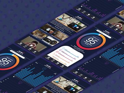 App UI minimal flat app mock up web design web branding ui design
