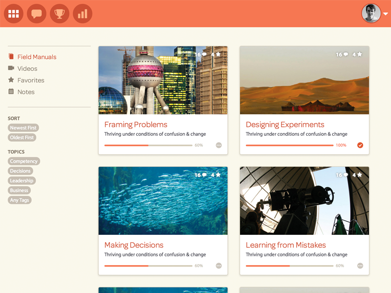 Nomadic Library responsive html css ui ux user interface user experience learning platform