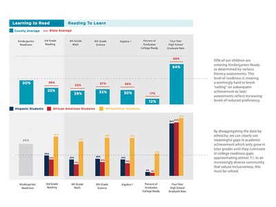 Community Achievement Scorecard data visualization design typography print infographics information visualization info design