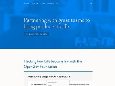 Personal Site Iteration iteration web design portfolio personal site html css