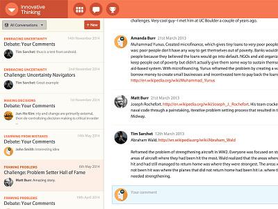Nomadic Conversations ux ui visual design responsive user experience chat conversation