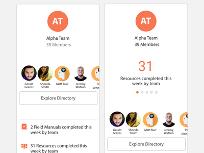 Team Module user interface ux responsive mobile-first