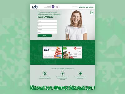 Landing Page to lead capture campaign for VB Serviços