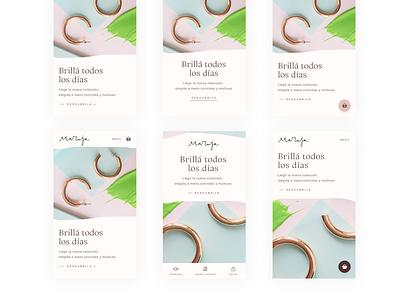 eCommerce mobile experimentation logo layout landing page ecommerce pastels visual design branding color ux ui design