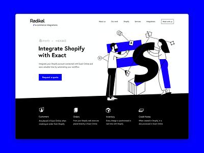 Landing page - Illustration web vector color illustration visual design typography ecommerce ui design