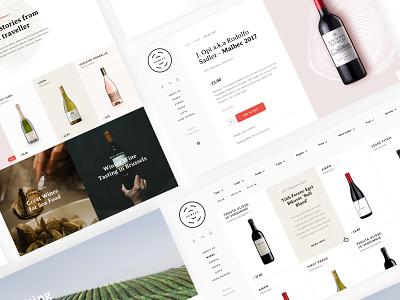 Wine seller eCommerce landing page typography web layout branding ux ecommerce visual design design ui