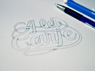 A la Carte. draw dune dunedzn ink sketch letter typography lettering sketchbook letters doodle handmade