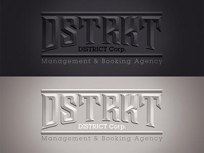 DSTRKT - District Corp. lettering black white dune dunedzn district gang typo typography logotype letter logo