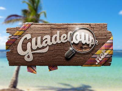 Guadeloupe.net gwada typography madras wood guadeloupe type dune dunedzn gang logo palm beach