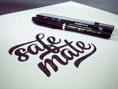 Safe Mate - Lettering dune typography type lettering safe black letter draw ink handmade pen gang