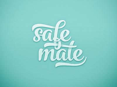Safe Mate - Logo lettering letter handmade safe dune gang typography draw type blue logo wave