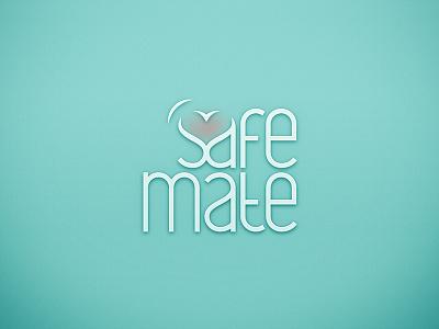 Safe Mate - logo denied dune safe adobe gang typography letter blue logo lettering type heart wave