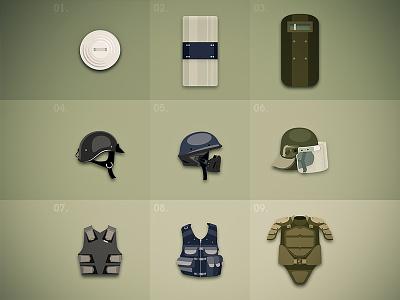 Defense items defense bulletproof dune icon item illustrator adobe sosoa gang shield vest game