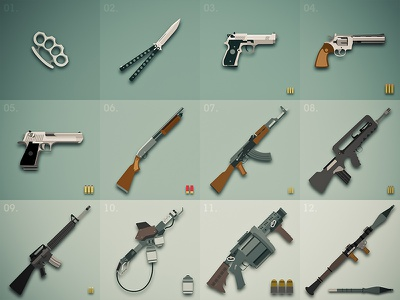 Weapon items dune gang gun icon item game sosoa weapon adobe illustrator knife videogame