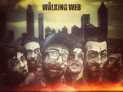 the Walking Web nantes france dune dunedzn thewalkingweb walkingweb walking web tww thewalkingdead walkingdead dead twd zombie zombies illustration character amc