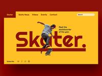 Skater Web Design