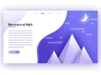 Mountains at Night UI/UX Design