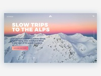 Slow Trips - Landing Page