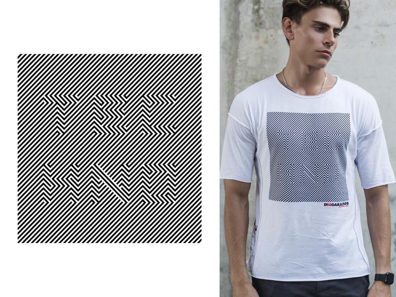 Techno Print black and white optical illusion music techno minimal t-shirt design t-shirt print typography graphic design vector