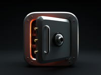 Safe Box Icon - 3D